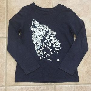 Sonoma Boys Long Sleeve Wolf 🐺 Tee Shirt